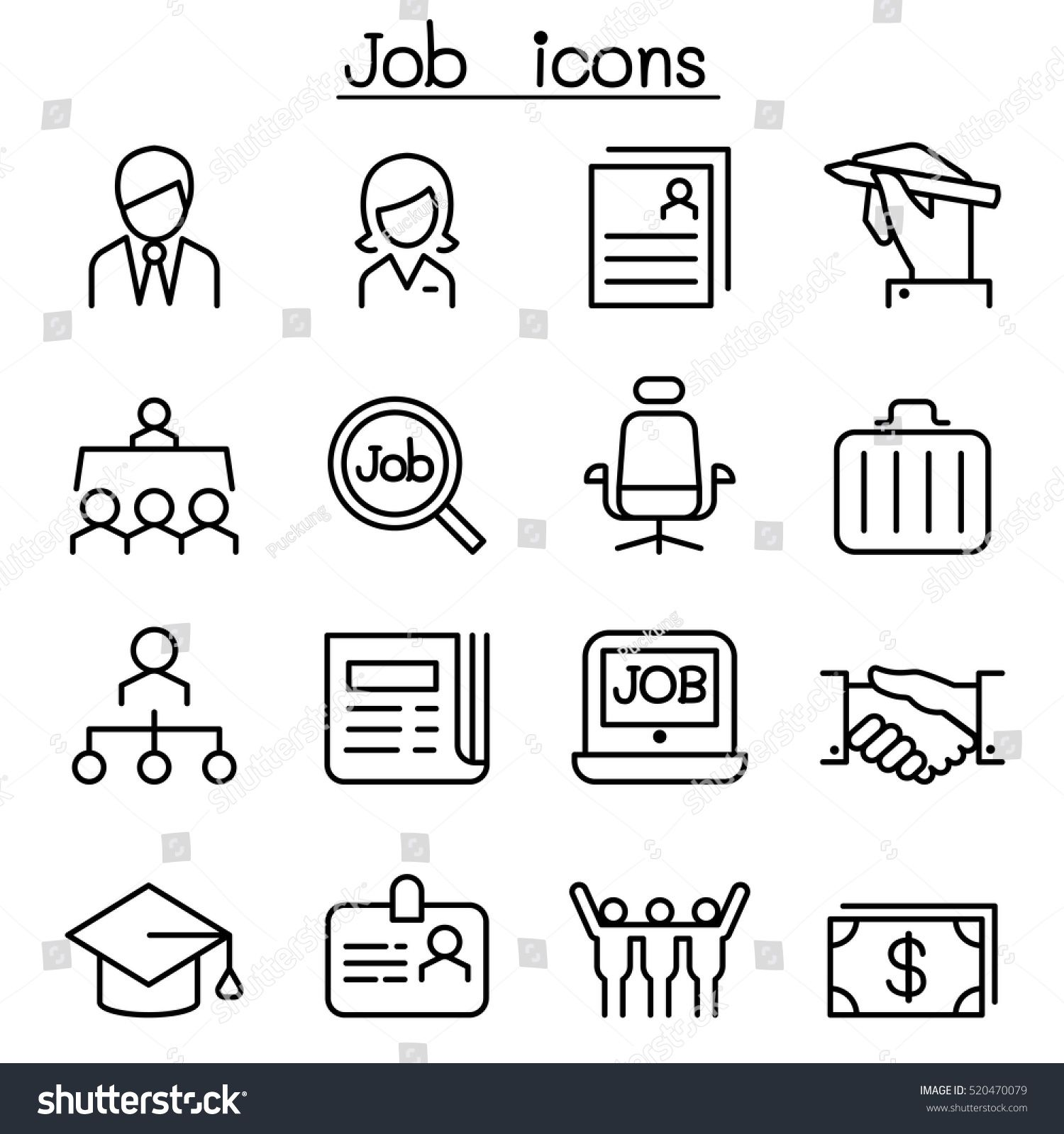Search Job Free Vector Icons Designed By Itim2101 Vector Free Vector Icon Design Free Icons