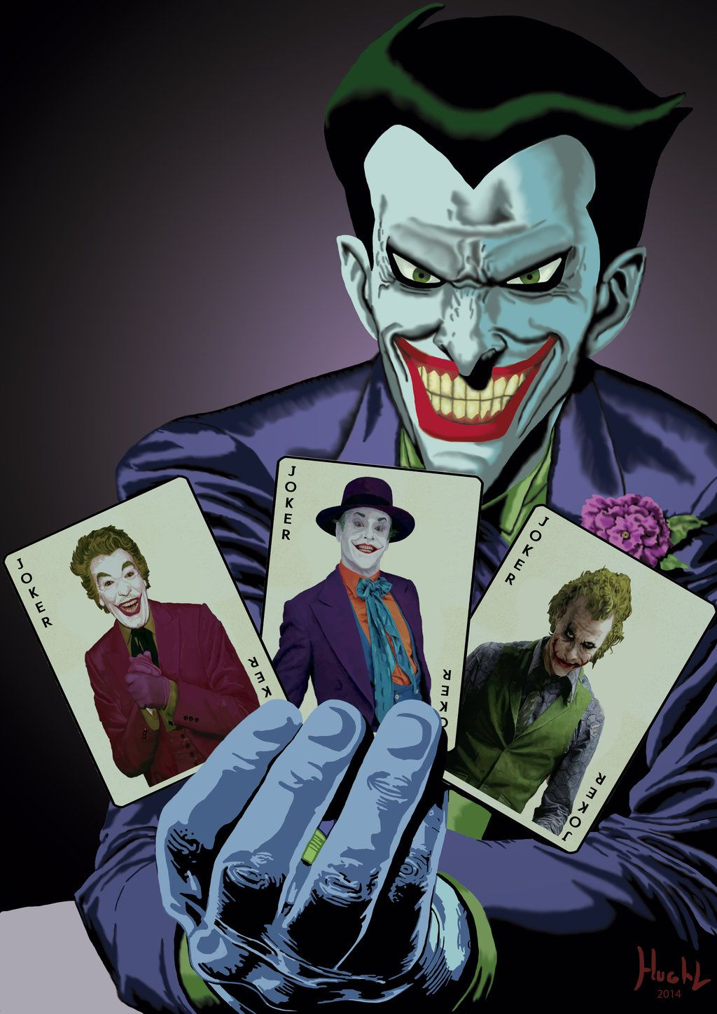 Joker batman the animated series with cardsby shinnh the joker joker batman the animated series with cardsby shinnh voltagebd Images