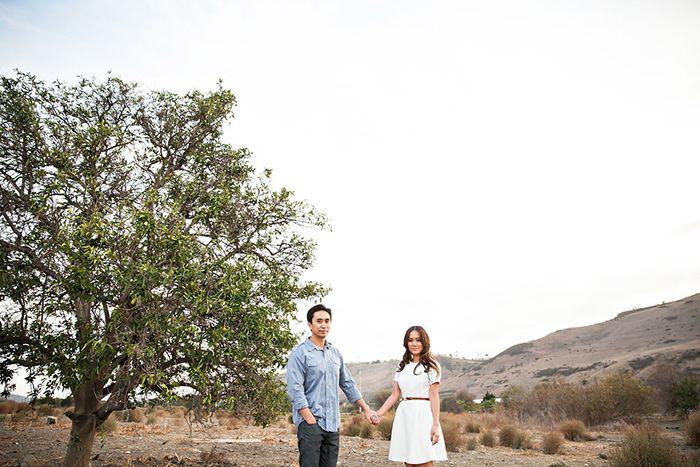 Chic style engagement photos