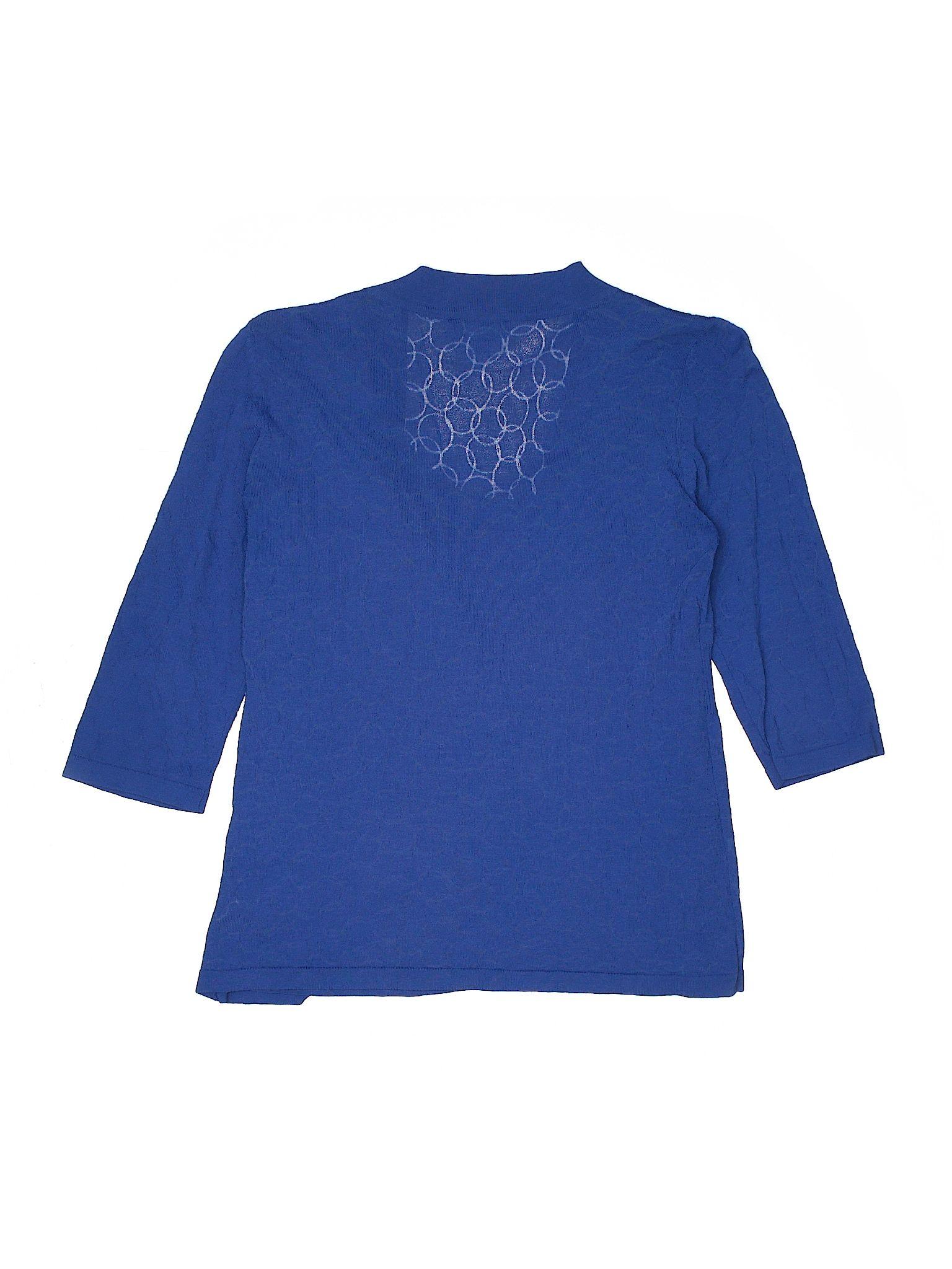 24148df39b0391 Studio JPR 3 4 Sleeve Blouse  Size 8.00 Blue Women s Tops -  6.99