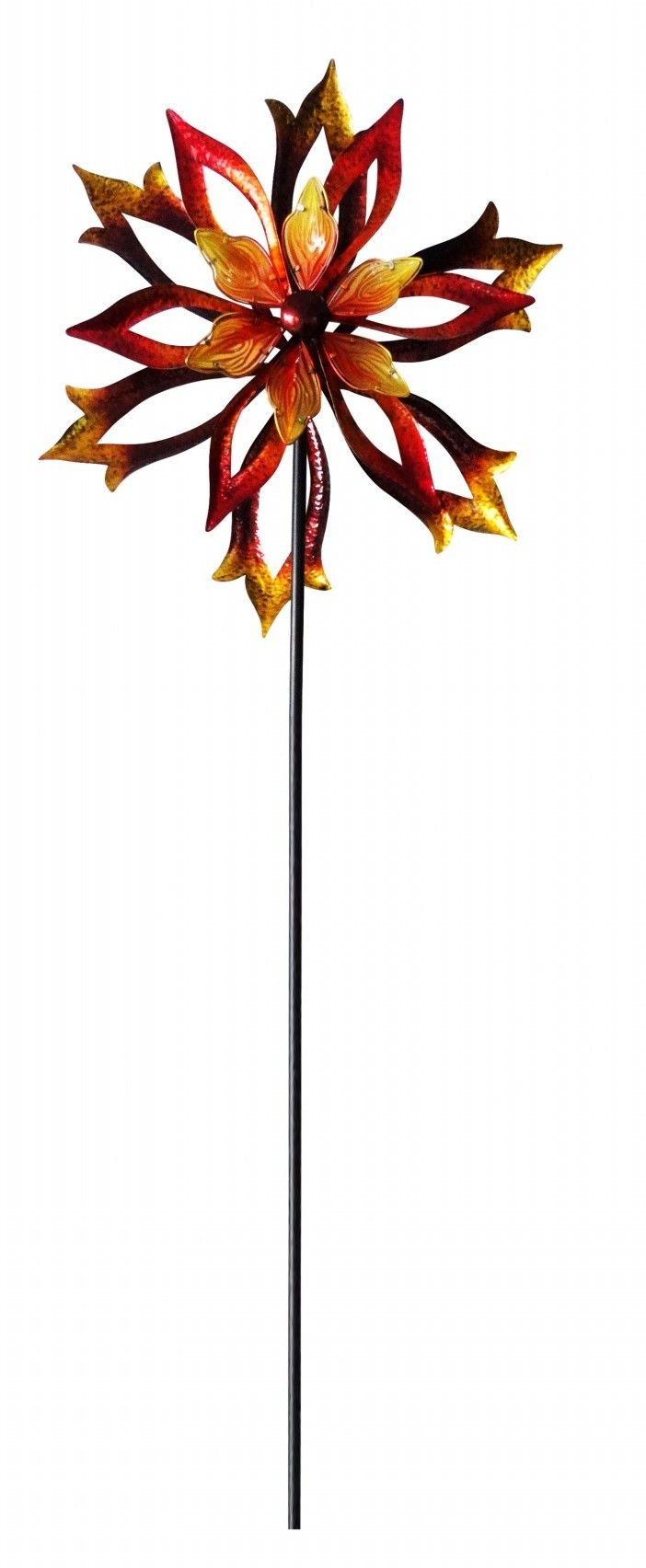 Metal Double-Sided Flame Flower Spinning Pinwheel