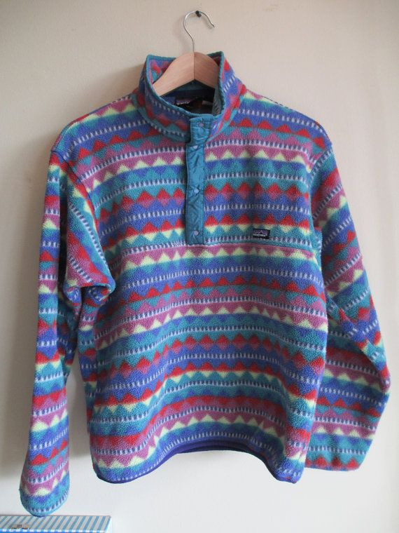 9263ad07a RARE Vintage Patagonia Aztec Tribal Print Pullover by loudersoft, $250.00