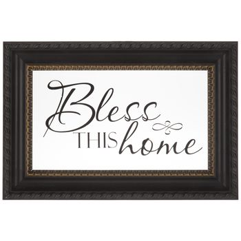 Bless This Home Black Framed Glass Wall Decor | Making A House A ...