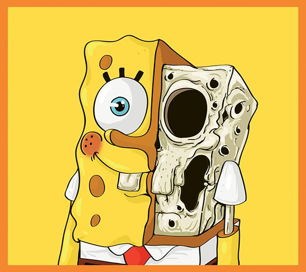 Cute or scary? Anatomical illustrations of famous cartoon characters ...