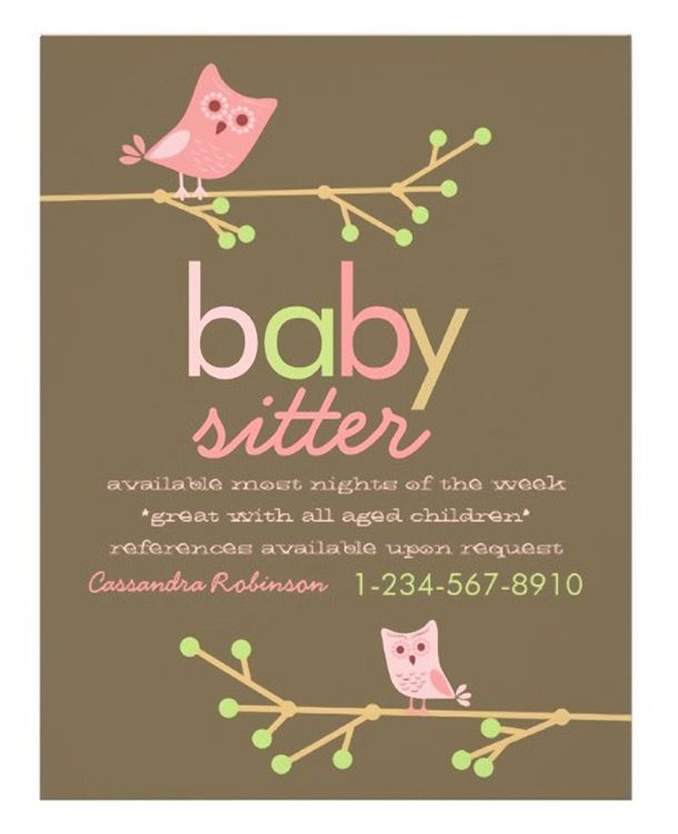 Download this Babysitter Business Card Template and other free ...