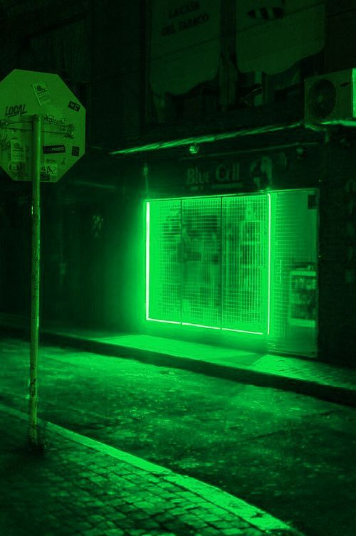 Green Lights Urban Night Photography (With images) | Dark ...