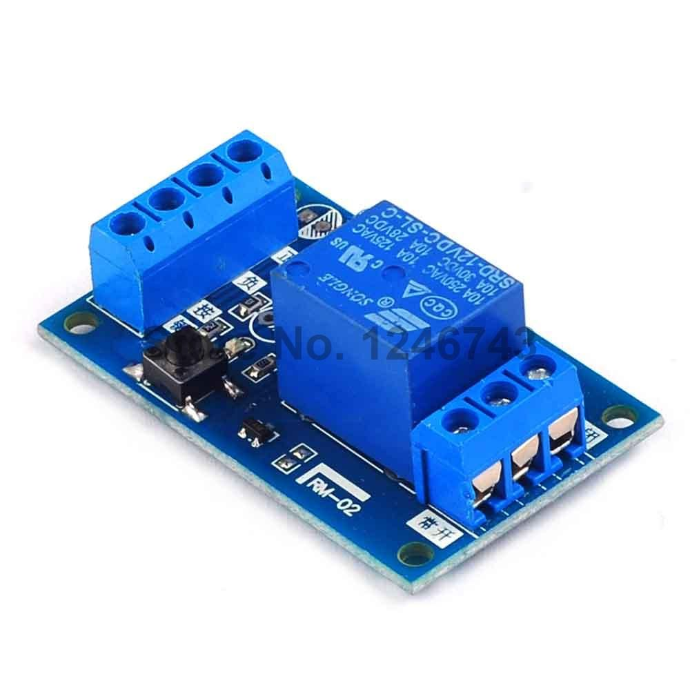 1pcs 12v Single Bond Button Bistable Relay Module Modified Car Start Circuit And Stop Self Locking