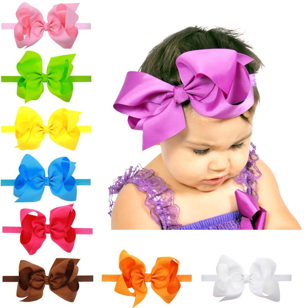 Baby Headband Hairband Soft Elastic baby headbands Bow Hair Accessories 16colors