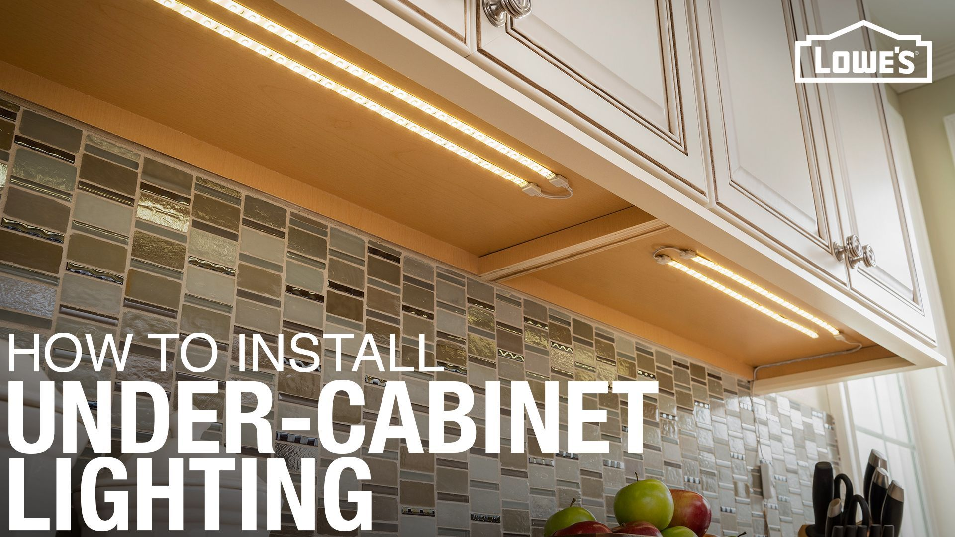 How To Install Under Cabinet Lighting Installing Under Cabinet