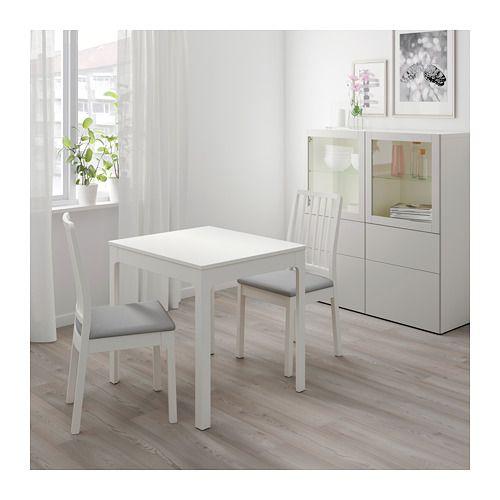 Studio Apartment Kitchen Table: EKEDALEN Extendable Table, White
