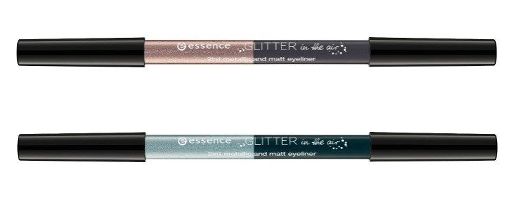 essence glitter in the air 2in1 metallic and matte eyeliner collage