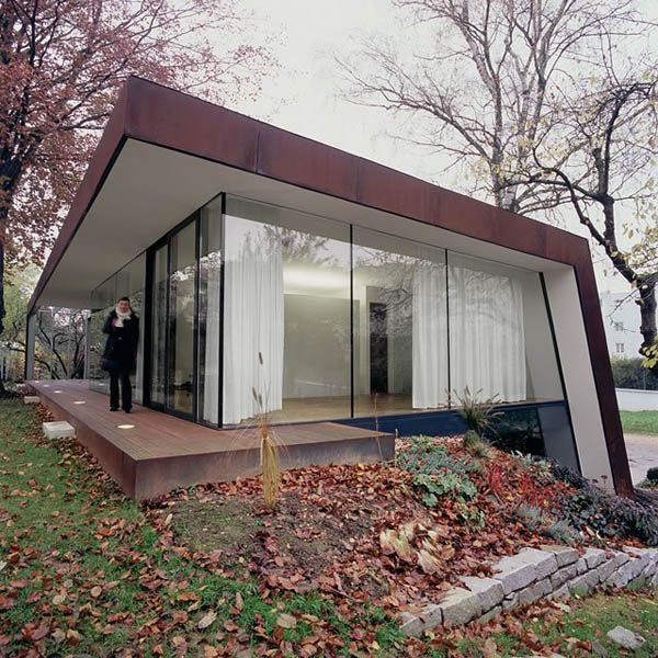 Revitalized 1920s Residence Folded Corten House Architecture House Roof Cool House Designs
