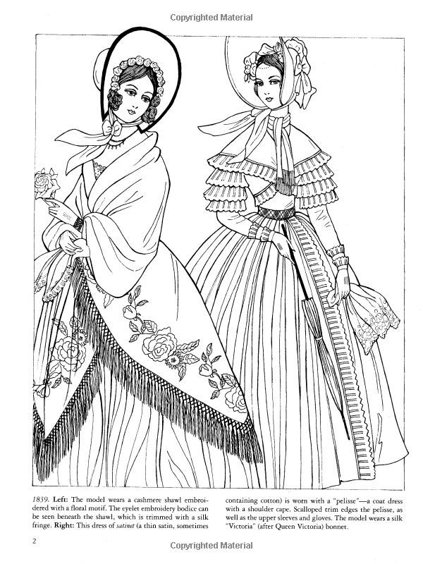 old fashioned ladies coloring book - Google Search | Coloring ...