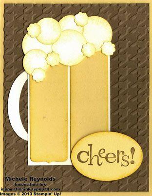 Summer Fun Camp Follow Up Beer Card Punch Art Cards Handmade Cards Stampin Up
