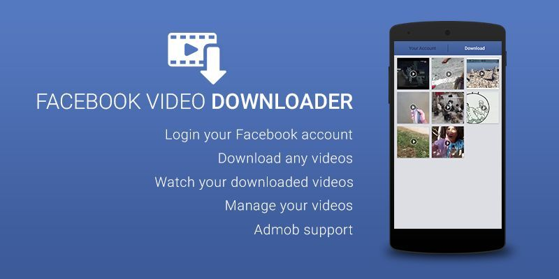 Facebook video downloader android source code by