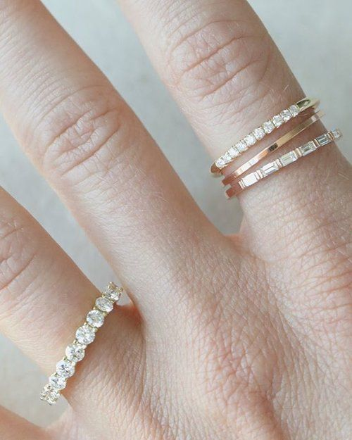 Wedding Bands And Stackers For Wedding Season Need Your Stackable Ring Shop The Link Emerald Engagement Ring Engagement Ring White Gold 14k Gold Wedding Ring