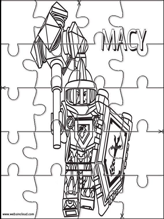 Aktivitäten für Kinder. Puzzlespiele Lego Nexo Knights 16 ...