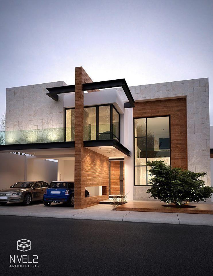 Sensacional cuadrada y minimalista fachadas pinterest for Casa de arquitecto moderno