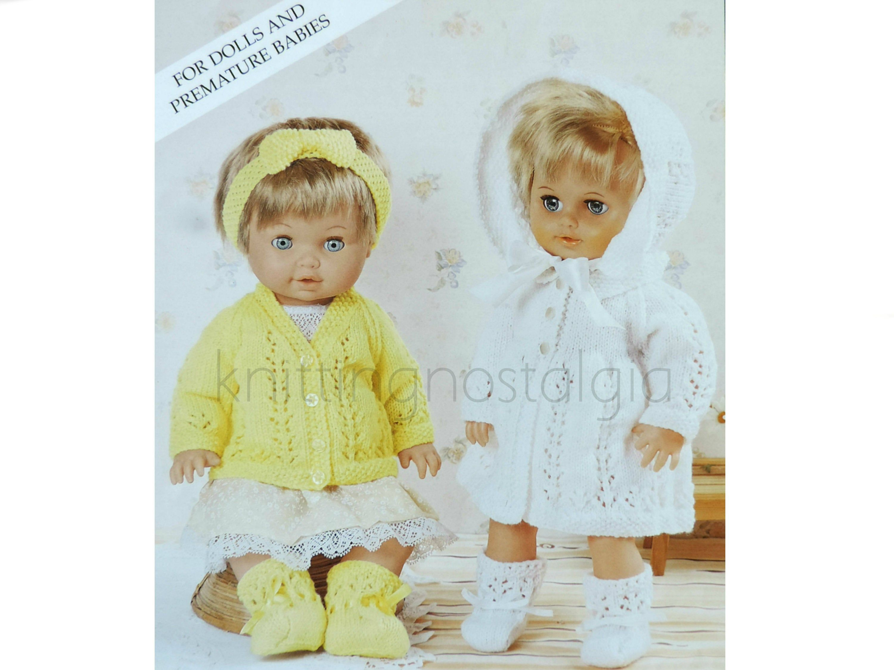 Baby Doll Prem Baby Clothes Matinee Set Knitting Pattern Etsy In 2020 Knitting Patterns Baby Patterns Modern Knitting Patterns