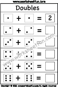 addition doubles   worksheet  addition worksheets  worksheets  addition doubles   worksheet