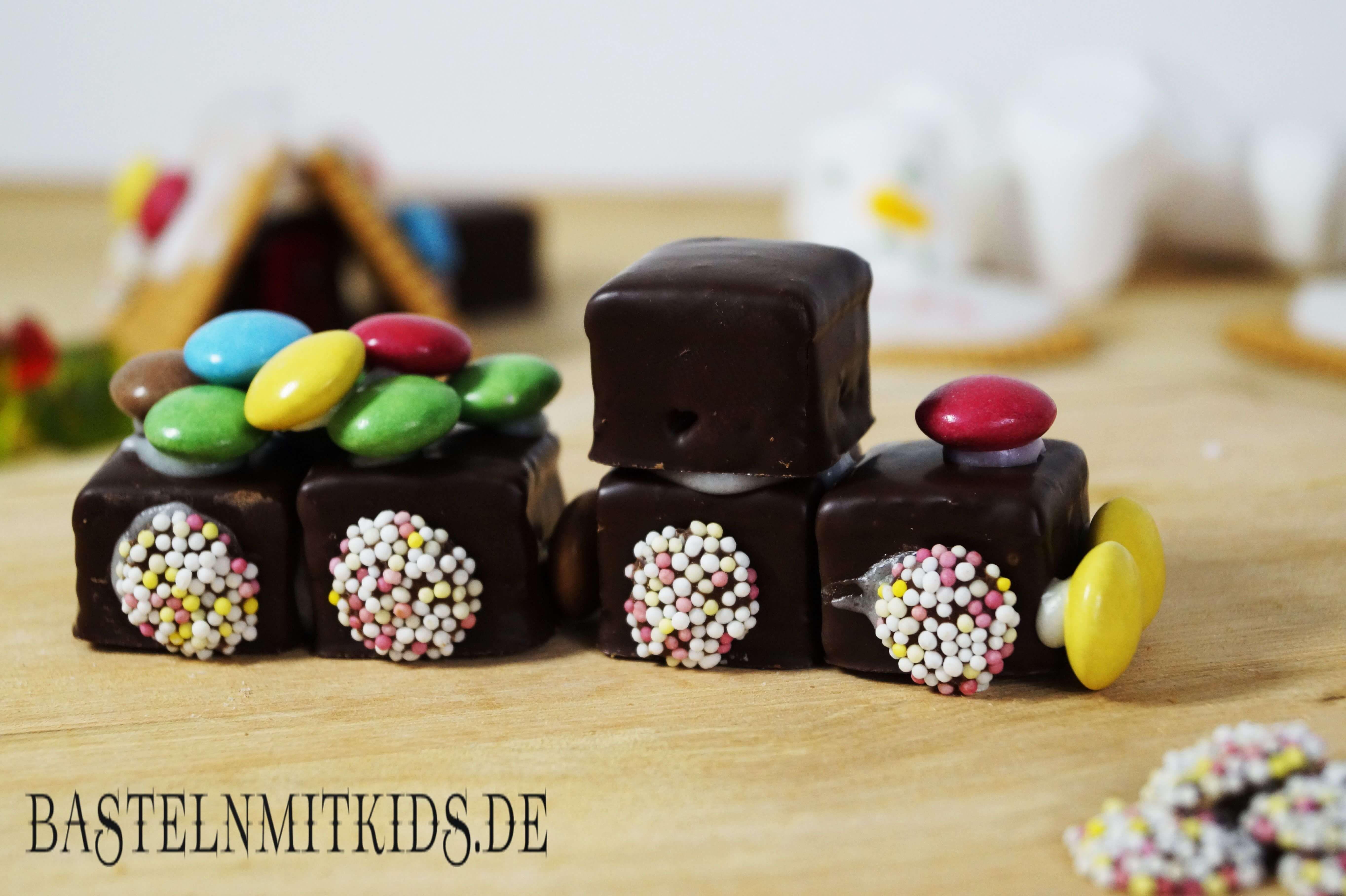 Zug Basteln Aus Schokolade Basteln Mit Süßigkeiten