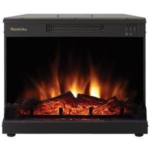 Muskoka Masonry 24 In Electric Fireplace Insert Mfi2500 At The Home Depot Fireplace Inserts Fireplace Electric Fireplace Insert