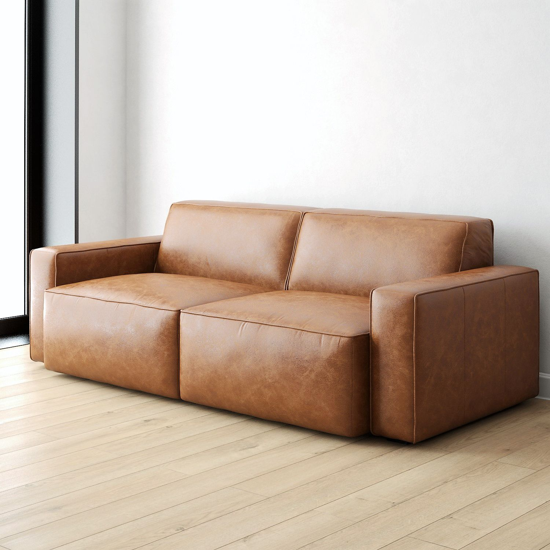3D Model / West Elm / Sedona Leather Sofa у 2020 р.