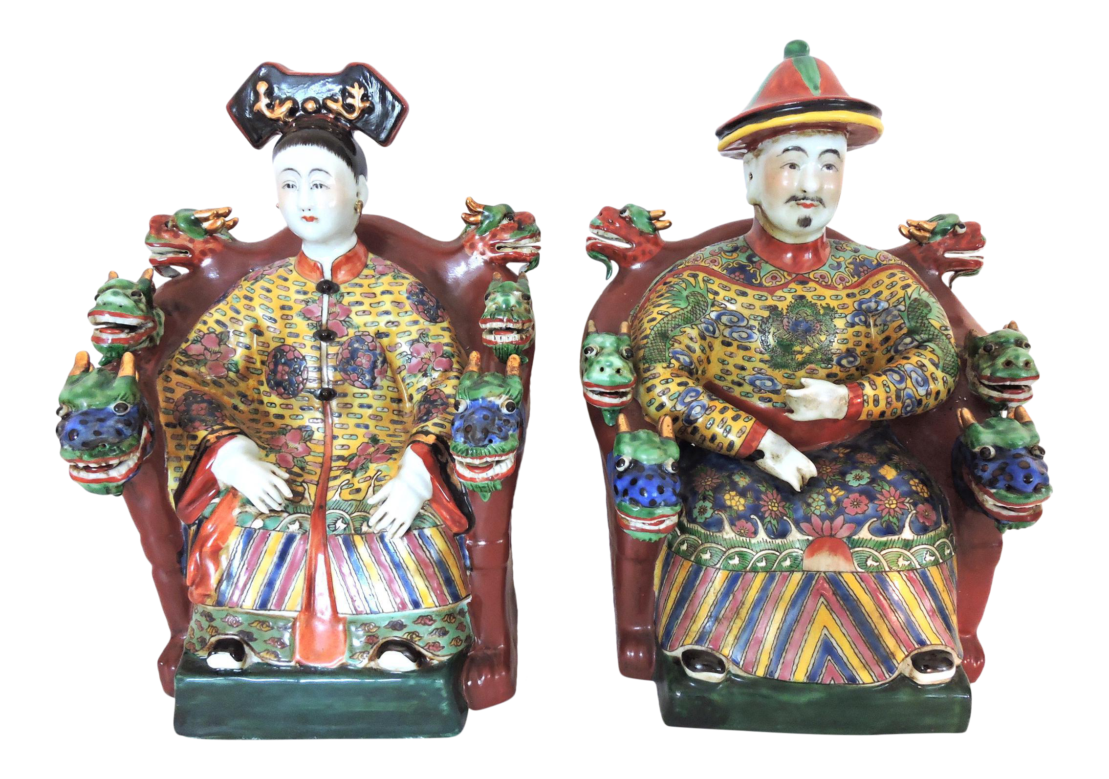 Chinese Emperor And Empress Figures A Pair On Chairish Com Please Feel Free To Contact Us About This Listing Chinese Emperor Models And Figurines Emperor