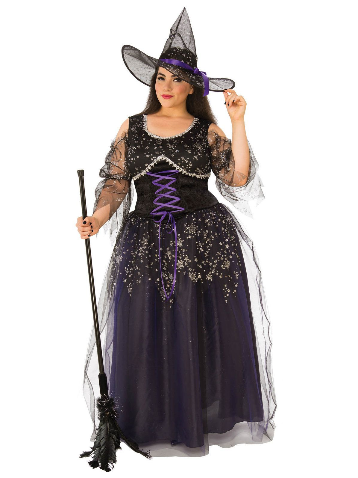 Womens Curvy Midnight Witch Costume Plus size costume