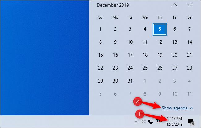 How to Use Your Calendar From Windows 10's Taskbar