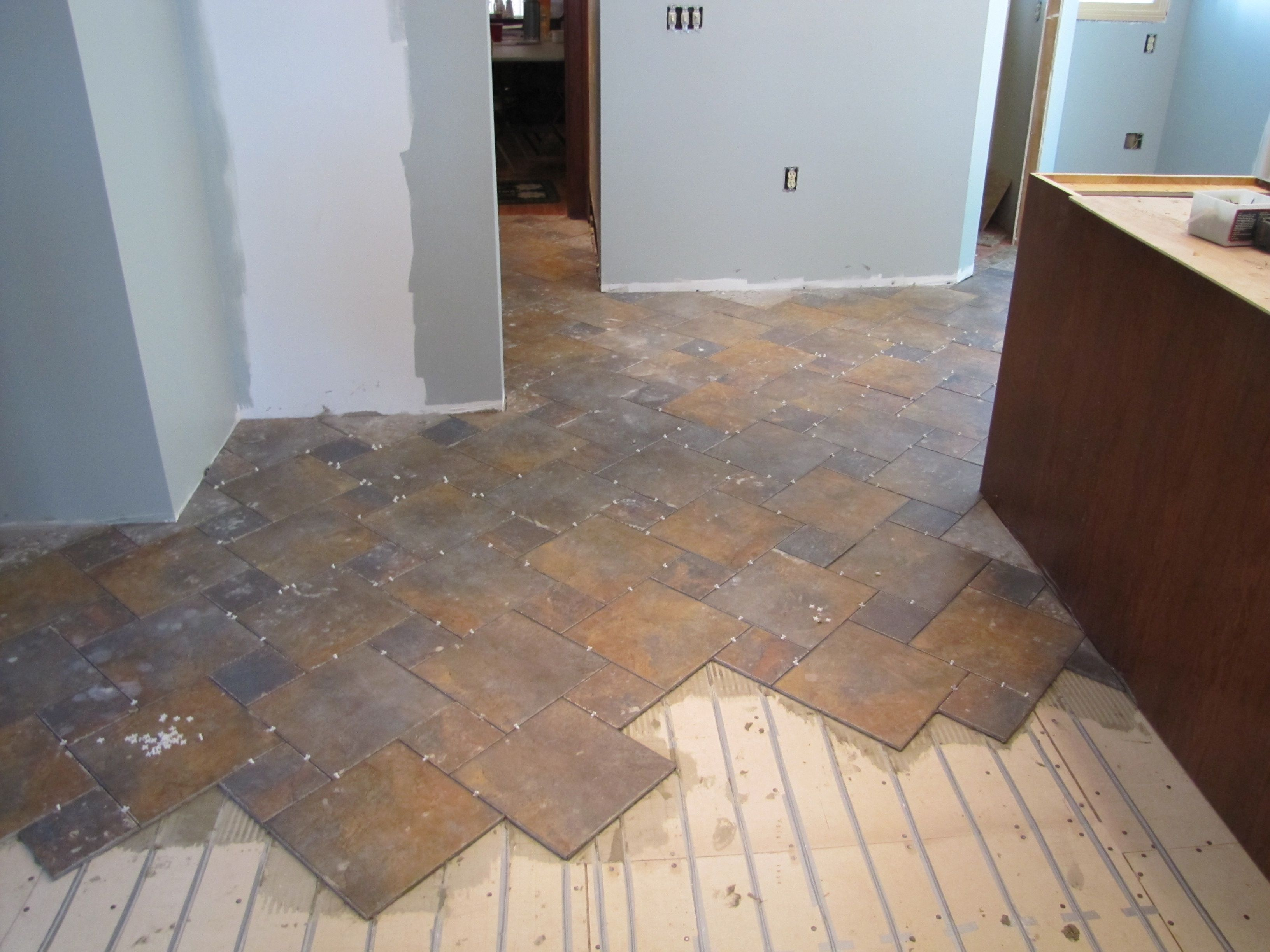Heated Tile Floor In Kitchen Warmup Heating System Aniguia Iron