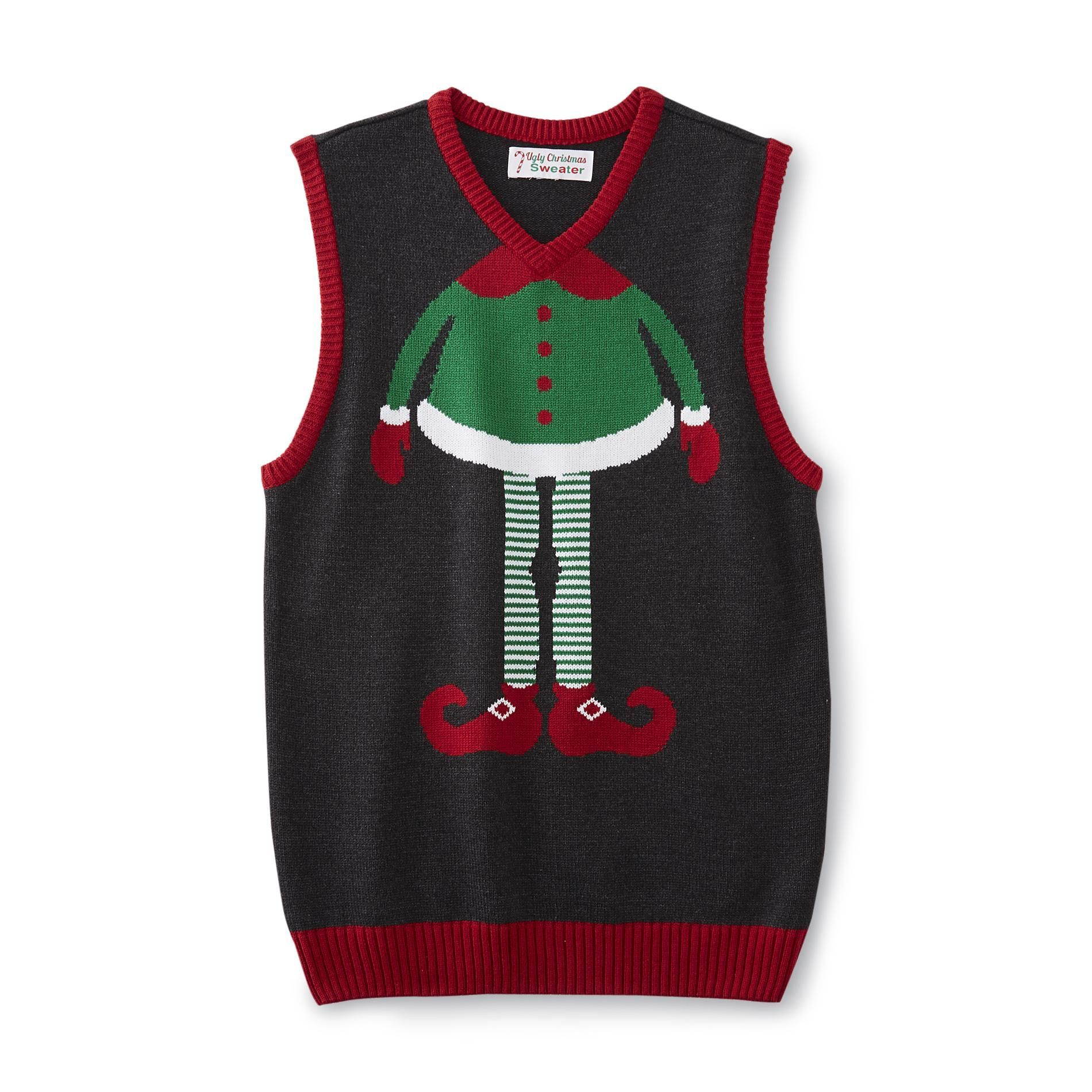 Mens Ugly Christmas Sweater Vest Sweater Vests Pinterest Ugly