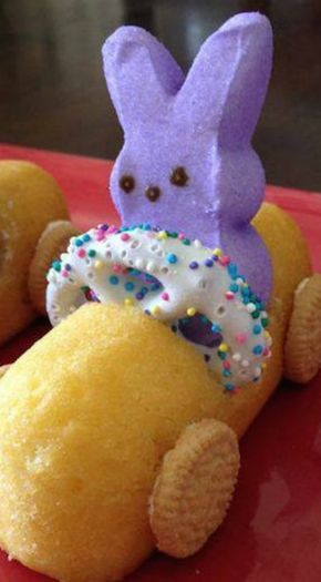 How To Make Easter Bunny Peeps Race Cars