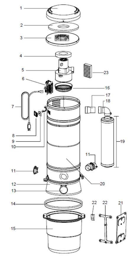 Beam Central Vacuum Parts Diagram Beam Central Diagram Parts Vacuum Vacuum Repair Central Vacuum Beams
