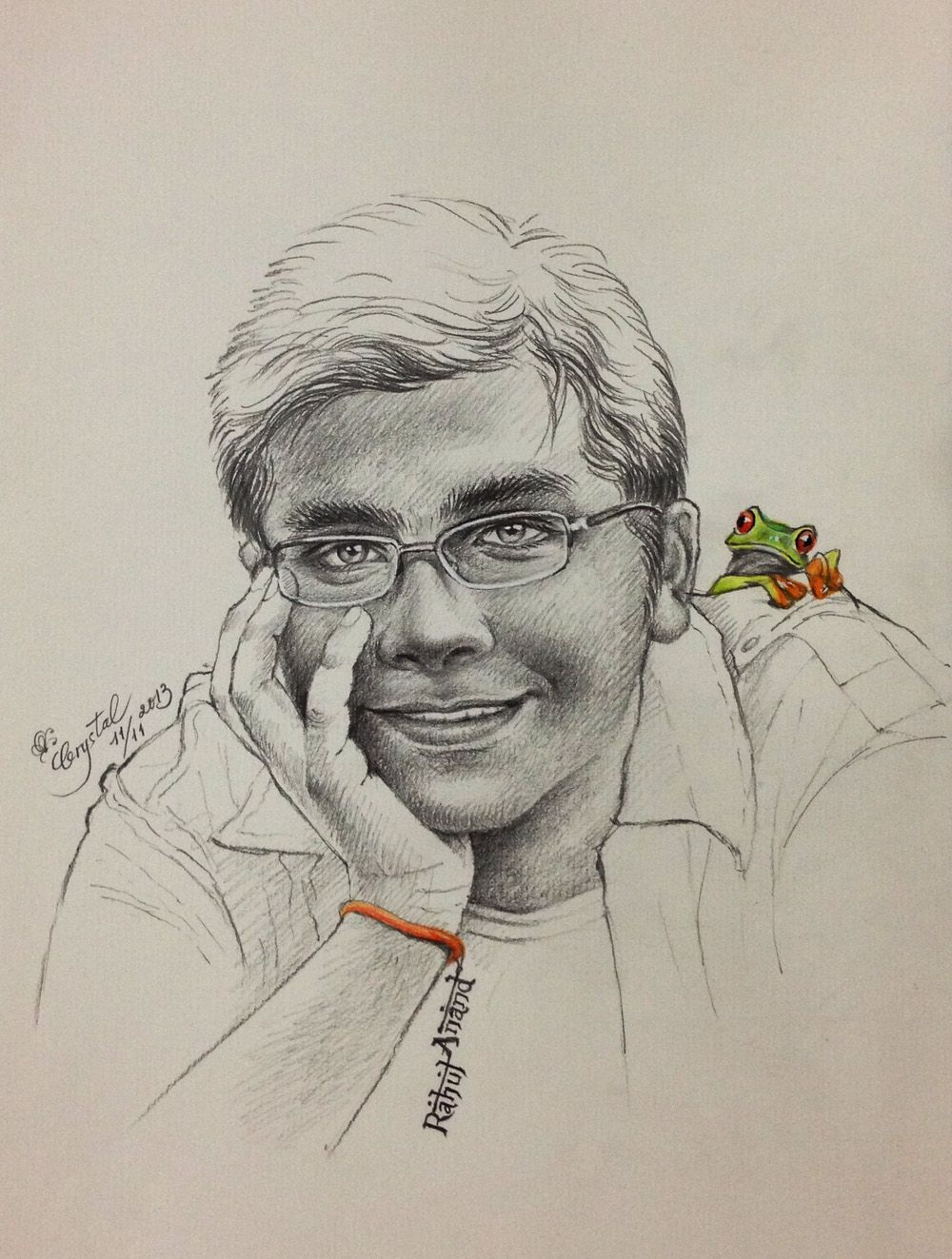 My pencil sketch on a4 paper a birthday gift for my friend rahul anand