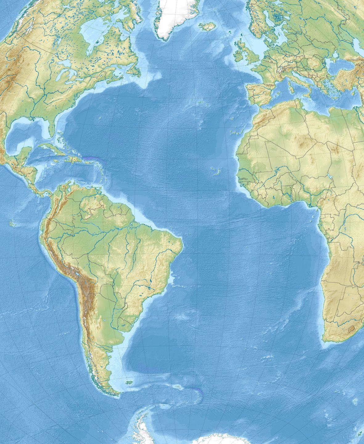 Template:Location map Atlantic Ocean - Wikipedia, the free ...