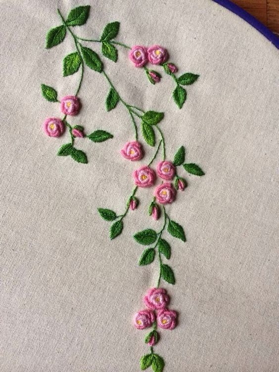 funwithhandicrafts.info #floralembroidery