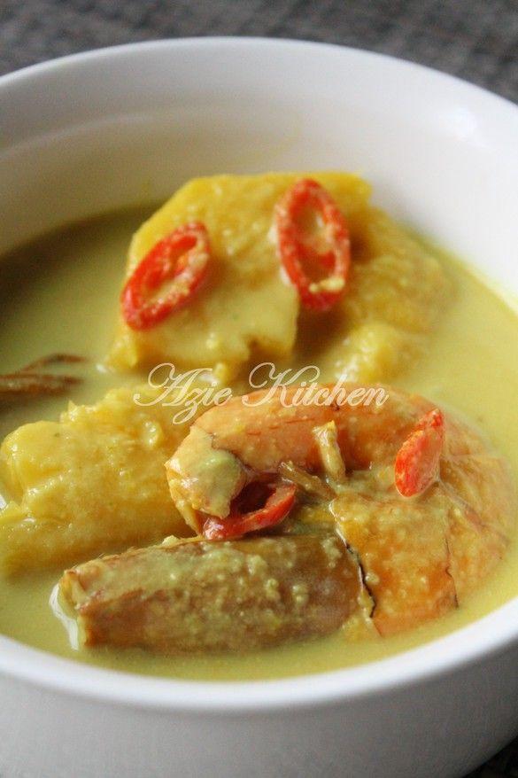 Azie Kitchen Masak Lemak Udang Dengan Nenas Malay Food Malaysian Food Food