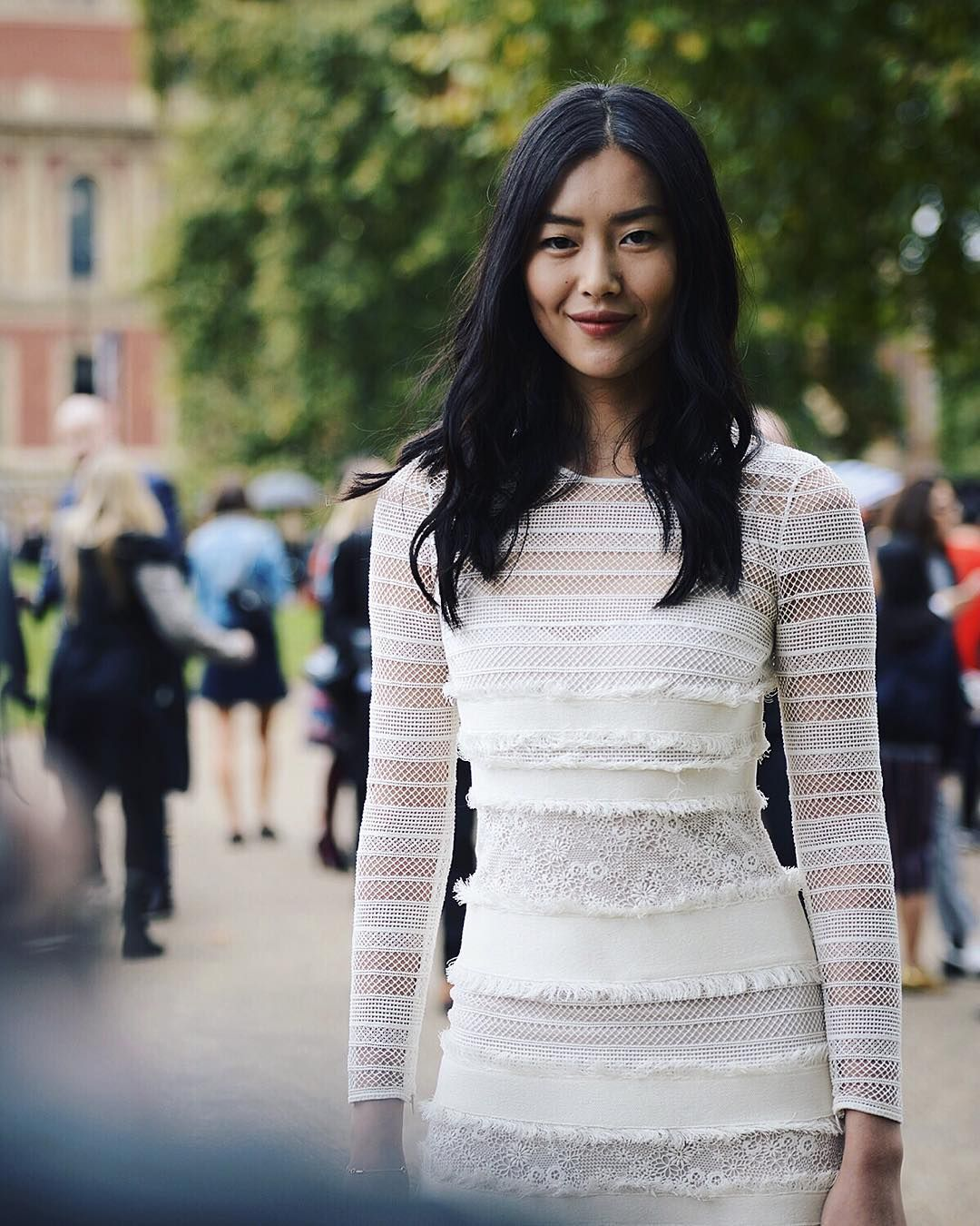 Liu Wenin London for the Burberry Show during LFW