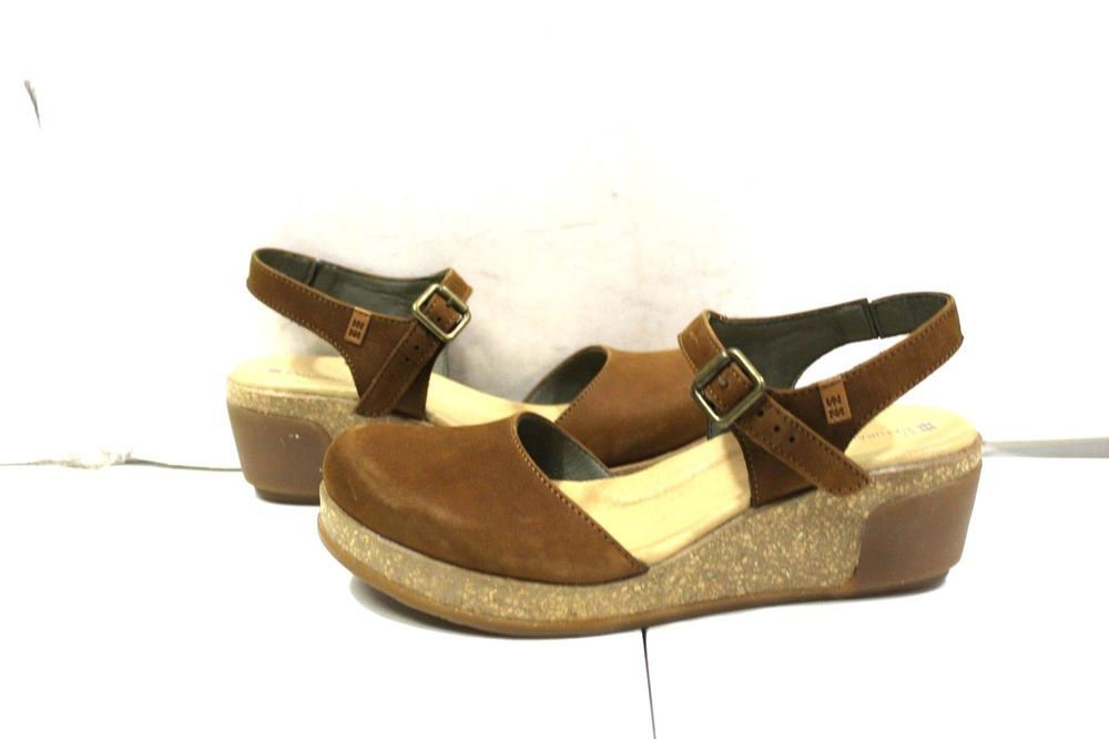 1a145c5fd07 S-726 Women's El Naturalista Leaves Pleasant Wood- Nectar Wedge size ...