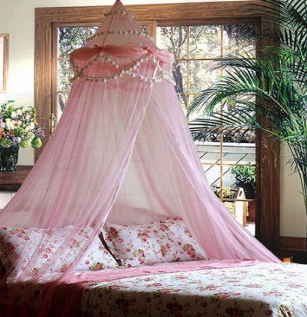 Amazon.com: Princess Absolute Ruffle Princess Pink Canopy By Sid: Home & Kitchen