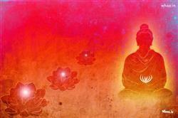 lord buddha art with red background hd wallpaper gautam buddha hd
