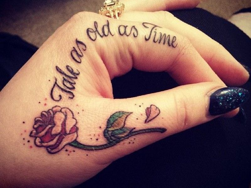 45 Powerful Hand Tattoo Designs Rose Tattoos For Women Cute Finger Tattoos Disney Tattoos Quotes