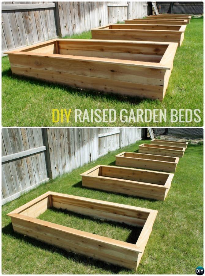 DIY Cedar Wood Raised Garden Bed-20 DIY Raised Garden Bed Ideas ...