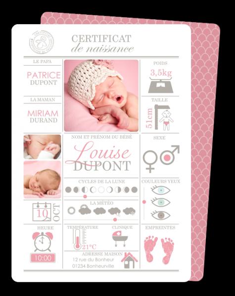 Personalised Handmade nouveau bébé naissance fille petite-fille Word Art Carte