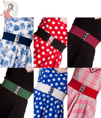 Hell bunny rétro années 50 rockabilly ceinture élastique in Clothes, Shoes & Accessories, Women's Accessories, Belts | eBay