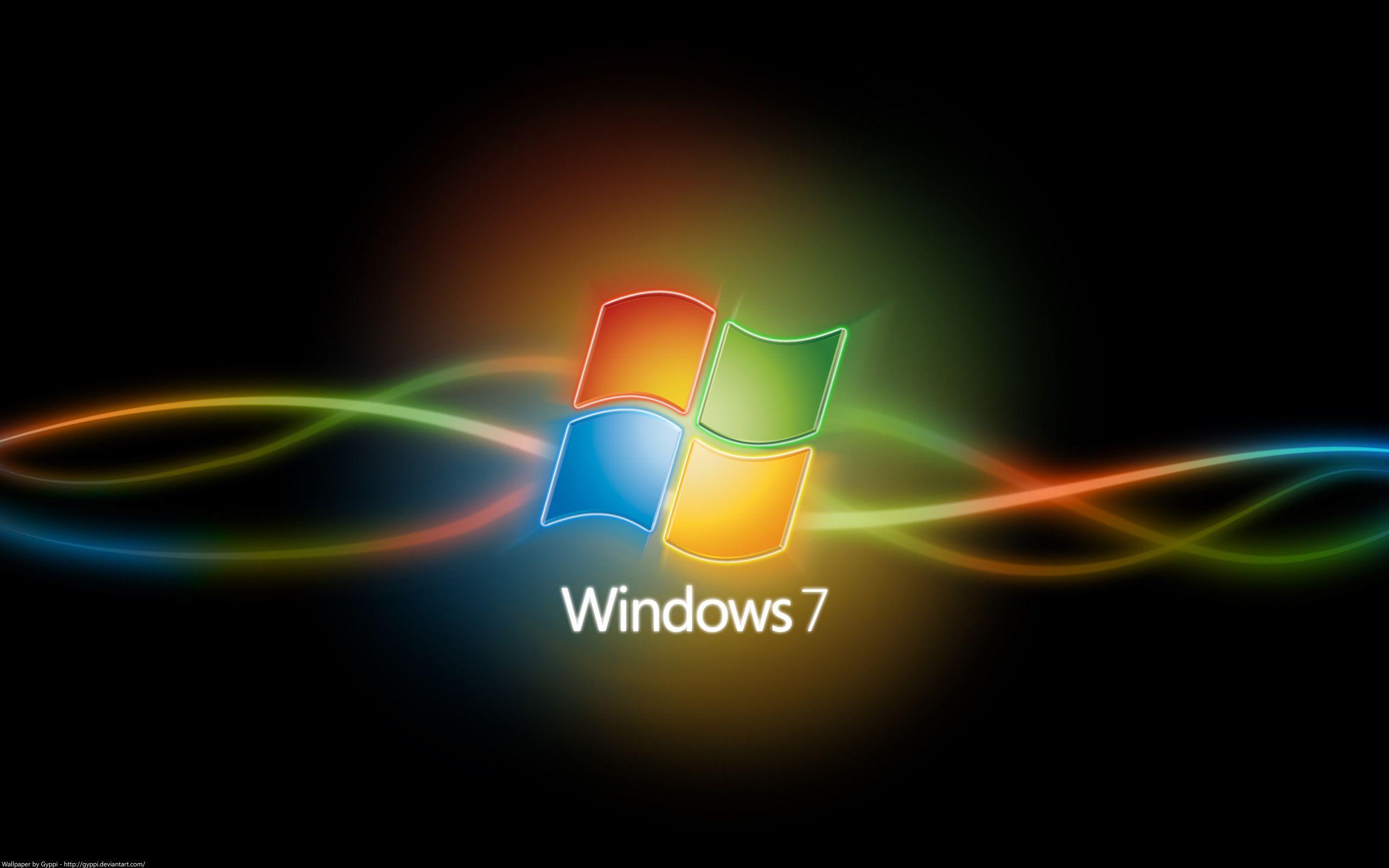 Windows 7 Crystal Black Logo Hd Wallpaper Computer Wallpaper Hd Dual Screen Wallpaper Dark Wallpaper