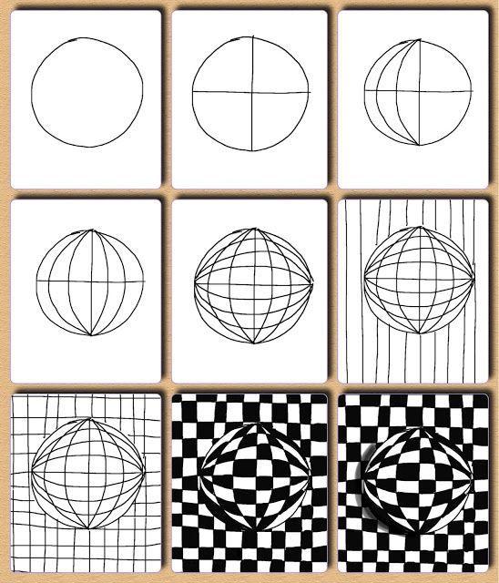 op art template - Google Search Op Art Cubes Art, Op art lessons