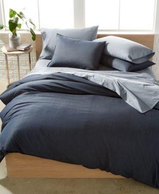 Calvin Klein Washed Essentials Denim Wash King Duvet Set Macys Com King Duvet Set Duvet Sets Comforter Sets