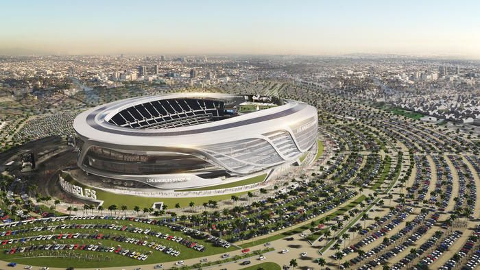A Three Dimensional Model Of The New Los Angeles Rams Stadium Is